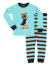 Load image into Gallery viewer, Lazy One - Stud Puffin Kids Pajamas