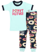 Load image into Gallery viewer, Lazy One - Donut Disturb - Kids S/S Pj Set