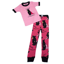 Load image into Gallery viewer, Lazy One - Bear In The Morning Pink - Kids S/S Pj Set