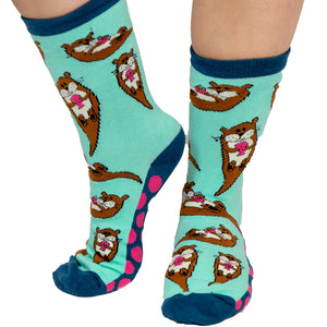 Lazy One - Otter Adult Crew Socks