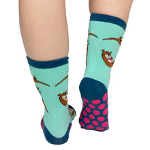 Load image into Gallery viewer, Lazy One - Otter Adult Crew Socks