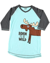 Load image into Gallery viewer, Born To Be Wild Women's Moose Tall Tee