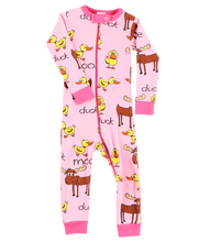 Load image into Gallery viewer, Duck Duck Moose Pink Union Suit