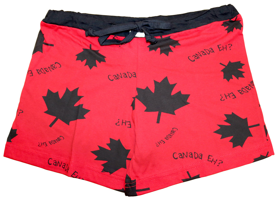 Canada Eh Red Women's Boxers