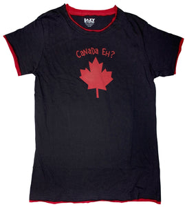 Canada Eh? Black Women's Fitted Tee