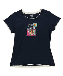 Smile Women's Camera Fitted Tee