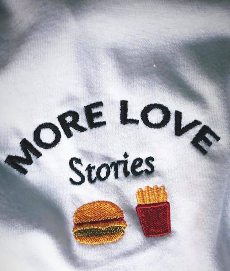 More Love Stories Burger & Fries White