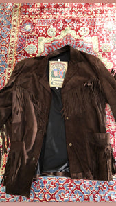 UNSIGNED leather fringe jacket