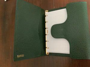 GUCCI leather diary