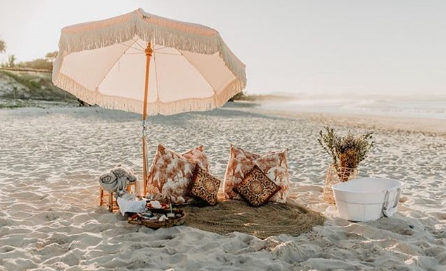 Wild Goat events a colourful life wedding beach picnic