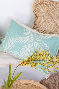 Pineapple Frond Mint Cushion II