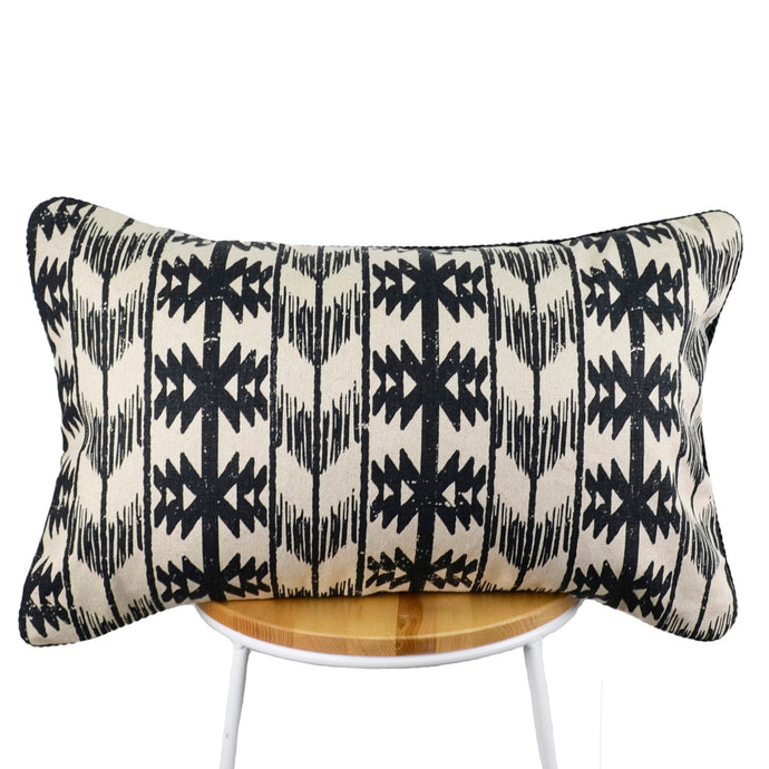 Africa Aztec Black Cream Cushion