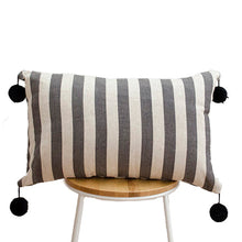 Load image into Gallery viewer, Stripes and Pom Poms Cushion