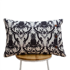 Pineapple Black and White Cushion
