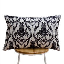 Load image into Gallery viewer, Pineapple Black and White Cushion