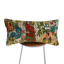 Load image into Gallery viewer, Frida's Garden Cream Cushion - Braid Long