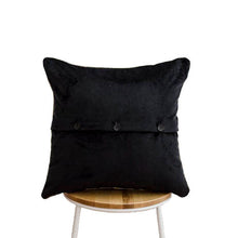 Load image into Gallery viewer, Frida's Garden Black Cushion - Braid Sqr