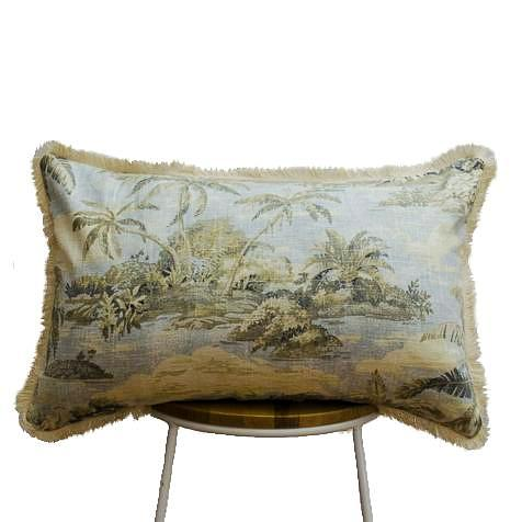 Hawaiian Island Pale Blue Cushion II