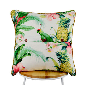 Hibiscus White Indoor-Outdoor Cushion