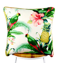 Load image into Gallery viewer, Hibiscus White Indoor-Outdoor Cushion