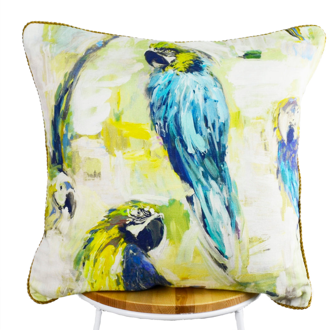 Macaw Cushion View 1