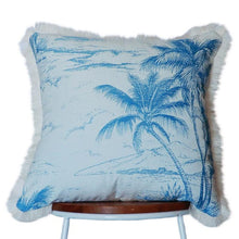 Load image into Gallery viewer, Blue Palm Island Cushion View 3