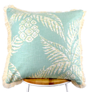 Pineapple Frond Mint Cushion