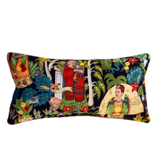 Load image into Gallery viewer, Frida's Garden Black Cushion - Braid Long