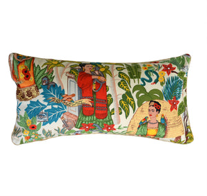 Frida's Garden Cream Cushion - Braid Long