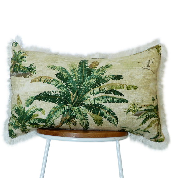 Hawaiian Island Cushion Green