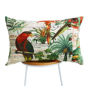 Tropical Parakeet Cushion