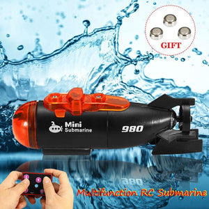 Rc Submarines Led Light Remote Control Boat Live Future Now