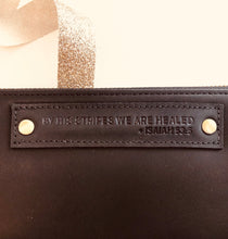 The Black Scripture Stamped Leather Wallet // Isaiah 53:5