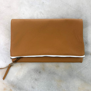 The Genuine Leather Fold Over Clutch // 1 Corinthians 16:14