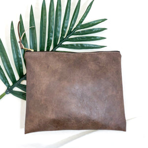 The Vegan Leather Clutch // Café