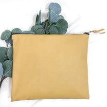 The Italian Vegan Leather Clutch // Gold