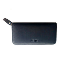 The Scripture Stamped Leather Wallet // Black