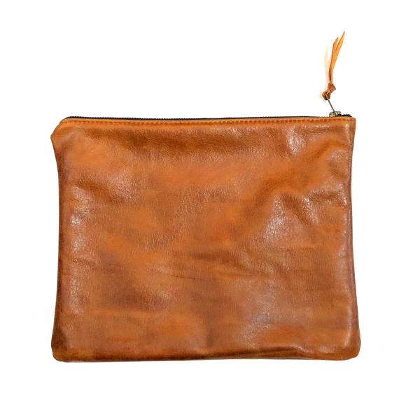 The Geniune Leather Clutch // Caramel