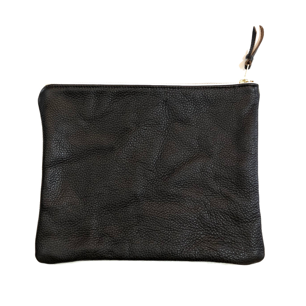 The Genuine Leather Clutch // Black