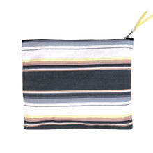 The Denim Clutch // Striped