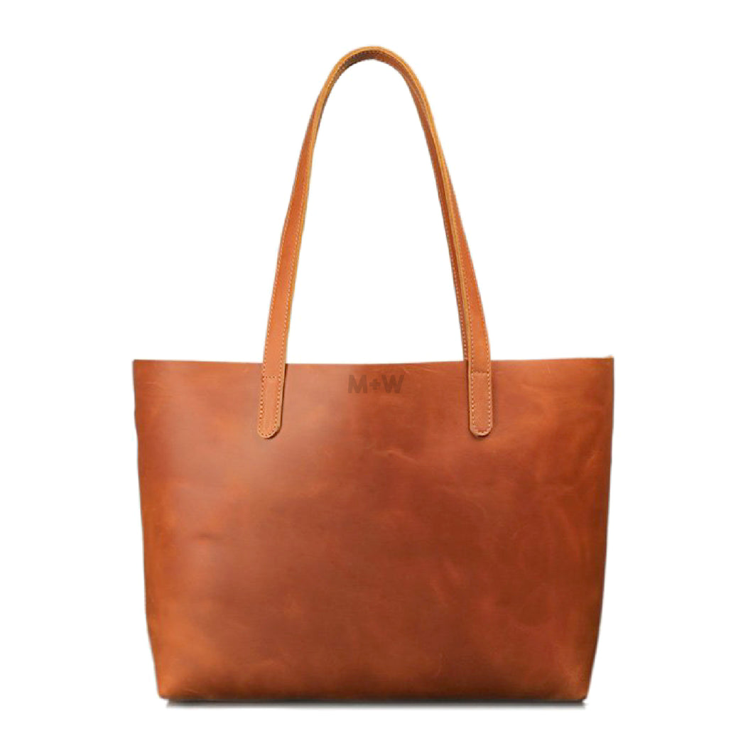 The Genuine Leather Tote // Tan