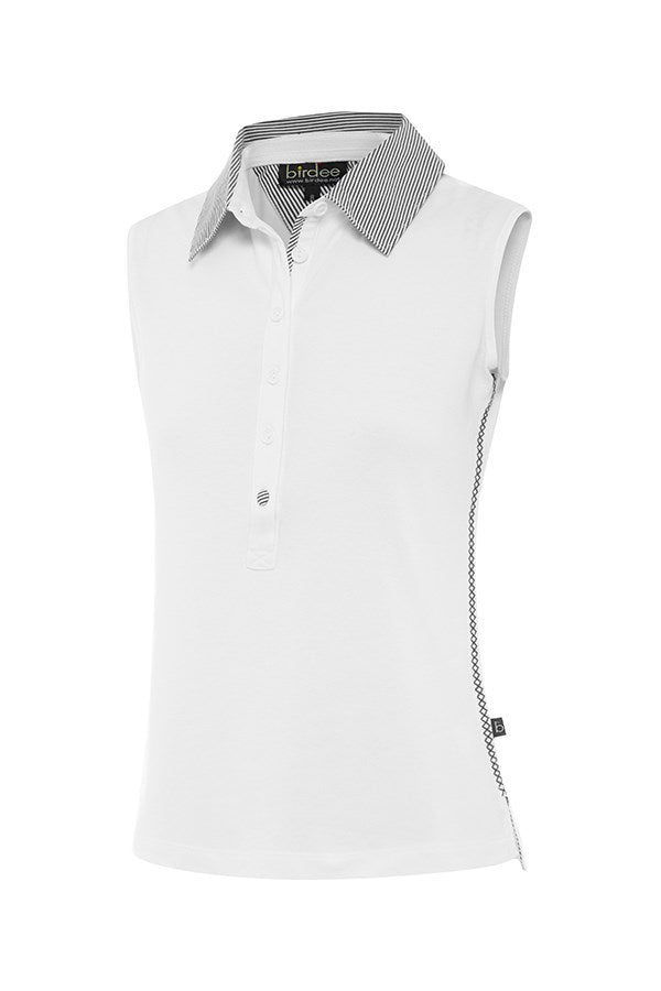 Cotton Pique Sleeveless Top