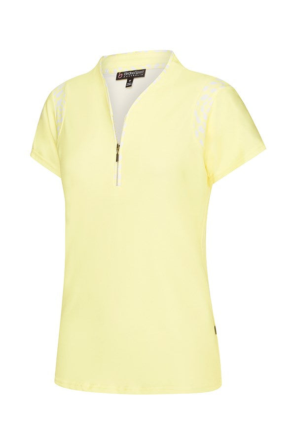 Tear Drop Short Sleeve Piping Top
