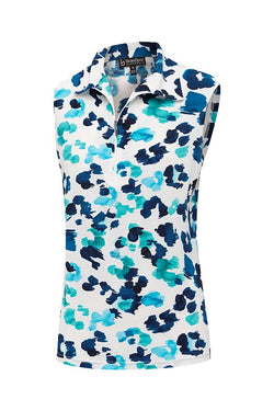 Ocean Sleeveless Top Plus +