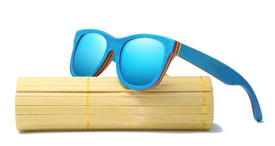 Bamboo sunglasses hard case