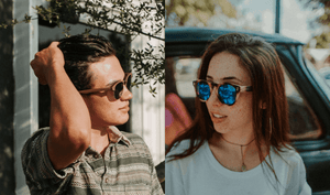 Men and women with bamboo sunglasses