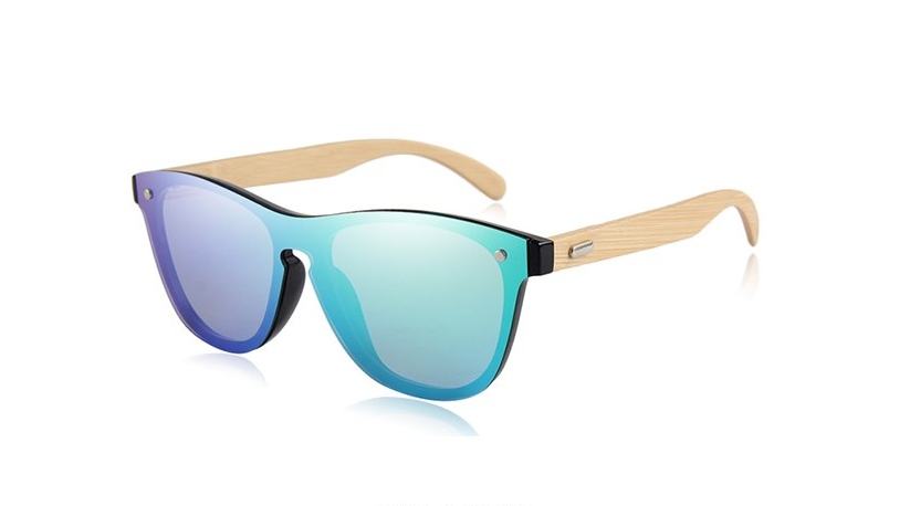 Rimless Sunglasses with green color lens
