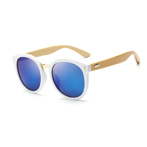 Oversized Round Bamboo Sunglasses