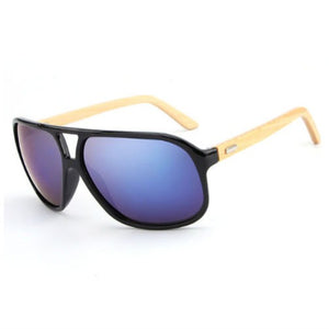 Men's Rectangle Bamboo Sunglasses