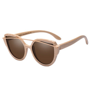 Trending Cat Eye Bamboo Sunglasses